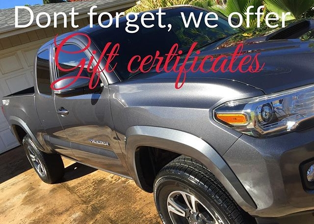 We are offering personalized gift certificates! Call for special pricing through the month of December